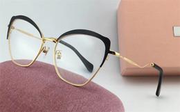 Argentina Nuevo estilo popular 54p diseñador de moda gafas ópticas medio marco encantador ojo de gato color marco de metal Estilo avant-garde de calidad superior para dama cheap metal frames charms Suministro