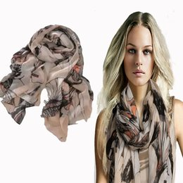 Wholesale Cotton Wide Shawls - Begonia Color Neck Scarf Shawl Flower Ink Flower Style Women's Long Cotton Wide Wrap New Best For Xmas Gift