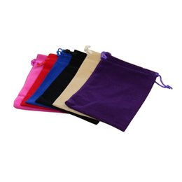 Wholesale Jewelry Cases For Rings - 5 x 7 cm Fashion Jewelry Pouches Bags Velvet Drawstring Bags for Rings Necklace Wedding Gift DIY Packaging Jewel Case