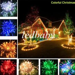 Cintilação de luzes de cordas de natal on-line-2015 NOVA mais quente DHL LIVRE 10 M 100LED colorido LED String Fada Luz XMAS Luzes da Festa de Casamento de Natal luzes de Cintilação