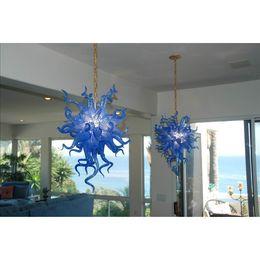 Wholesale Italian Style Kitchens - Longree Home Decor Blown Murano Glass Chandelier Italian Style Modern Art Decor Blue Glass Chihuly Style Chandelier