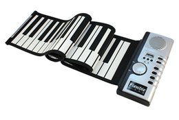 Wholesale Soft Roll Up Keyboard Piano - Roll-Up 61 MIDI Soft Key Synthesizer Electronic Piano Keyboard Mic Jecksion