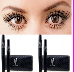 Wholesale 2015 New Mascara Younique3D D FIBER LASHES version Waterproof Double Mascaras With Barcode and instruction one set