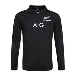 g New Zealand All Blacks Long sleeve Rugby Jersey Shirt 2015 2016 2017 Season, All Blacks Mens Rugby Football Jersey 16 17 18 Size S-3XL