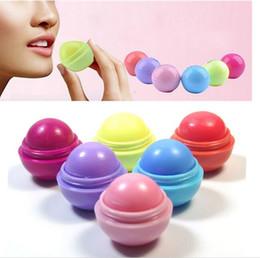 frutos de labios Rebajas Lindo bálsamo labial redondo Ball 3D Lipbalm sabor a fruta Lip Smacker Bálsamo labial hidratante natural Bálsamo labial cuidado
