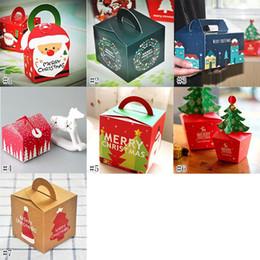 Décorations de Noël Noël Apple Boîte-cadeau Pommes Noël Eve Emballage Apple Arbre Solide Cloches Rouge Cupcake Boîte Muffin Papier 8 * 8 * 15.5 CM ? partir de fabricateur