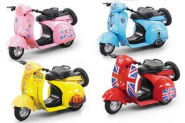 Wholesale Big Boy Bicycles - 2017 Adult An d Kids Child 's Boys Girls Interesting Toy Colorful Mini Simulation Sheep Retro Alloy Motorcycle Model Toy Parent child