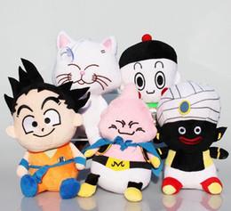 Wholesale Dragon Ball Z Plush - hot sale Japanese Anime Dragon Ball Z Plush Toys Kawaii Son Goku Dolls Stuffed Toys Kids Toys 15cm
