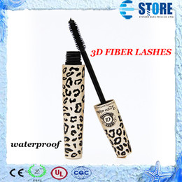 Wholesale Transplanting Mascara - Leopard Mascara Set 3D FIBER LASHES Love Alpha Waterproof Transplanting Gel & Natural Fibers Makeup Cosmetics,Free shipping,wu