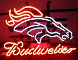 """Wholesale Horses Crafts - New Budweiser Horse Glass Neon Sign Light Beer Bar Pub Arts Crafts Gifts Sign Size:19"""""""