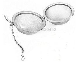 Wholesale Sphere Tea Filter - 1500pcs lot drop shopping tea filter stainless steel cooking tools sphere strainer mesh locking egg shape infuser