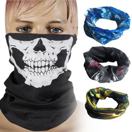 Wholesale Tactical Ghost Mask - ew Skull Mask Skeleton Balaclava Ghost Tactical Motorcycle Breathable Outdoor Sports Ski Cycling UV Protect Skull Face Mask