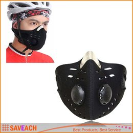 Wholesale Filter Mask Bike - Outdoor Sports Anti Dust Cycling Bicycle Bike Motorcycle Racing Ski Half Face Mask Filter Air Pollutant Outdoor Protective