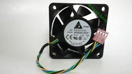 Wholesale Computer Fan Temperature - Wholesale- DELTA AFB0612EH DC12V 0.48A 60*60*25MM 6025 4 wire temperature control server fan