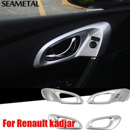 Wholesale Chrome Door Handle Cover Bowls - For Renault Kadjar 2015-2016 2017LHD Car Door Bowl Handle Cover ABS Chrome Trim Chromium Styling Interior Decoration Accessories