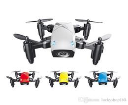 Rc videos voladores online-S9W Mini Drone 2.4 GHz 4 ejes RC RC Quadcopters con modo sin cabeza volando helicóptero para niños regalo de navidad 10 unids DHL