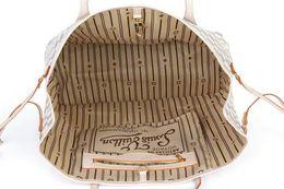 Wholesale Vintage Medium - Lowest Price ! Women Leather Handbags Designer Bag Brand Shoulder Bags Luxury Classic Letter Checker Women Fashion Femal Tote Vintage Purse