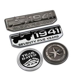 Wholesale Jeep Cherokee Stickers - LUNASBORE 3D Metal Refit Car Auto Badge Emblem Sticker for Jeep Wrangler Renegade Grand Cherokee