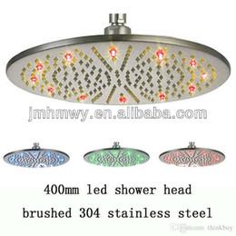 Wholesale Heated Shower Heads - fashion stainless steel rainbow rainfall waterfall heated shower head 072626