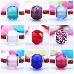 Wholesale Seven Strings - Jewelry wholesale Factory direct sale of seven color small cut glass 925 pure silver hand chain DIY string jewelry beads