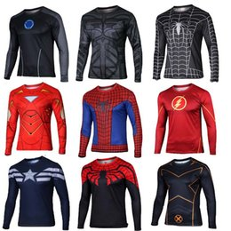 Wholesale America Cool - long QUICK-DRY T-Shirts Transformers Avengers Captain America Superman Spiderman Venom Costume Marvel Men cool fashion free shipping