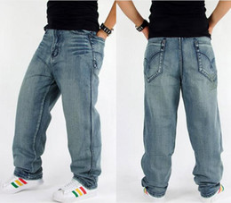 Wholesale Popular Men S Jeans - 2015 New Fashion Popular skateboard pants baggy jeans Street dance Men's Hip Hop Leisure pants Trousers large size 30-46 -028#