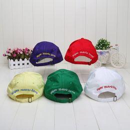 8f3ed2389119 Wholesale-10pcs Adjustable Super Mario Bros Baseball Hat Caps Red Green  Purple Yellow White 5 colors plush toys