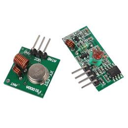 Wholesale Arduino Rf Transmitter Receiver - New 433Mhz RF transmitter and receiver kit for Arduino ARM WL MCU Module T1320 W0.5