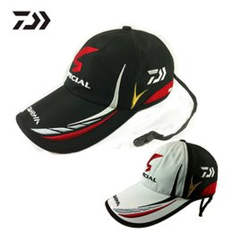 Wholesale Fishing Visor Hats - Wholesale-Free Shipping Men Fishing Daiwa daiwa fishing hat cap sunscreen Anti UV Sport Baseball Fishermen Cap Special Bucket Hat