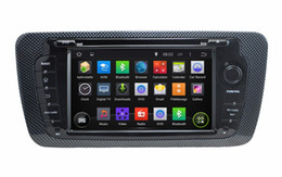 "Wholesale 3g Transmitter - 1024*600 Quad-core HD 2 din 7"" Android 4.4 Car Radio Car DVD for Seat Ibiza 2009-2013 With GPS 3G WIFI Bluetooth IPOD TV AUX IN"