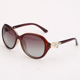 Wholesale Uv Polarised Sunglasses - Polarized Driving Sunglasses For Women Oval Shape Frame Polarised PC Lens Designer Womens UV Glasses Eyewear For Sale