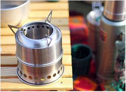 Wholesale Cold Wax - 2015 Free shipping Hot Sale Special Offer Portable Stainless Steel Outdoor Wood Stove with Mesh Bag