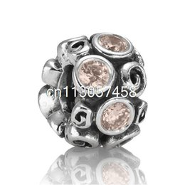 Wholesale Antique Sterling Silver Chains - New Fashion rhinestone crimp patterns 925 Sterling Silver European Bead Charm Antique Best Gift Jewelry Snake pandora Bracelet Chain 1pcs up