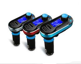Новые Горячие Продажи Bluetooth Автомобильный Комплект Громкой Связи MP3-Плеер FM Передатчик Dual 2 USB Зарядное Устройство Поддержка SD Line-in AUX T66 от Поставщики комплект подкладки