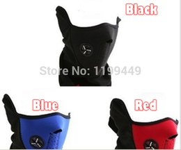Wholesale Cheap Winter Face Masks - Wholesale-New Cheap Neoprene Neck Warm Half Face Windproof Mask Winter Veil For Sport Bike Bicycle Cycling mask Ski Snow Skiing caps hat a