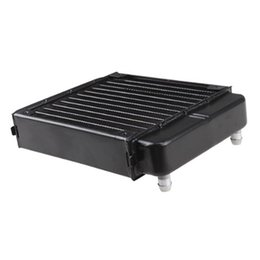 Wholesale computer water cooling system - Wholesale- YOC-Black Aluminum Heat Exchanger Radiator For PC CPU CO2 Laser Water Cooling System Computer