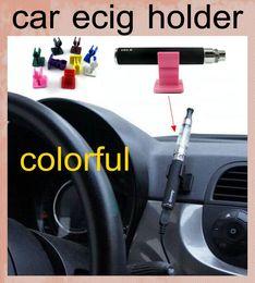 Wholesale E Cig Car - Car ecig holder bracket base ecigs car ecigs holder for ego EVOD x6 mods battery CE atomizer e Cig starter kit stander FJ047