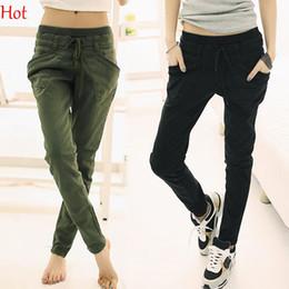 Wholesale Drawstring Pants Fashion Women - 2015 Hotest Summer Autumn Pants Plus Size XXL Women Trousers Fashion Cropped Trousers Slim Pants Casual Capris Harem Pants For Women 17576