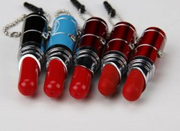 Wholesale Wholesale Led Lipstick - Multifunction ballpoint pen  Simulation lipstick pen  LED ballpoint pen Touch ballpoint pen  dust plug pen