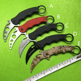 fox knives Promo Codes - 5 Styles Fox Claw Karambit Training Folding blade G10 Handle Outdoor gear EDC Pocket Tactical knife hunting camping knive