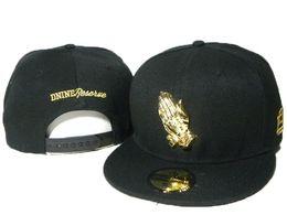 Wholesale D9 Reserve - Hotsale D9 Nine Reserves Black hats Gold Pray Hands Design Top Quality gold snapback Brand Name Strapback Caps Men Women Snapbacks