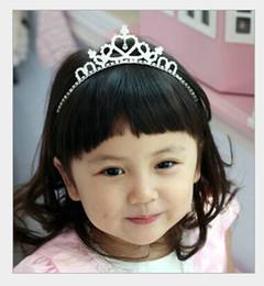 Wholesale Child Tiara Wedding - 2015 Free Shipping Hot Luxury Sparkling Rhinestone Tiara Girls Jewelry Wedding Flower Girl Crowns Children Girls HeadPieces For Wedding