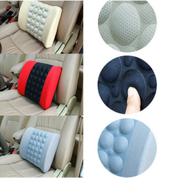 Wholesale Auto Seat Cushion Back Support - New Electric Car Lumbar Support High Quality Car Back Seat Cushion Auto Seat Massage Relaxation Waist Support Pillow