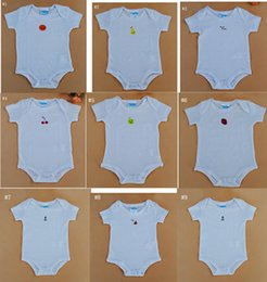 Wholesale Great Kids Clothes - High Stretch Baby Romper White Color Baby Clothing Newborn Romper Five Sizes 3M 6M 9M 12M 18M Great Workmanship Tidy Sewing Kid Bodysuit