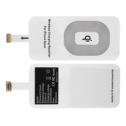 Wholesale qi adapter - Universal Qi Wireless Charger Standard Smart Charging Adapter Receptor Coil Receiver For iPhone 5 5C 5S 6 6S 7 7plus For Android
