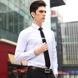 Wholesale Casual Form - 2015 New Arrival Men's Solid Color Easy-care Long Sleeve Shirts Men's Casual Form Shirt Large Size S~6XL 15 Choices CA051