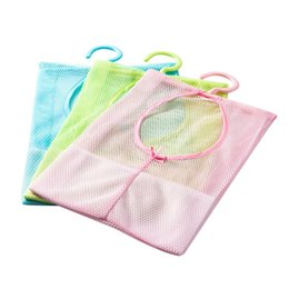 Wholesale Bath Wall Storage - Wholesale- New Baby Kid Bath Toy Tidy Bag Net Mesh Storage Suction Bathroom Stuff Organiser