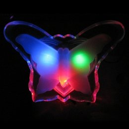 Wholesale Candles Small Night Lamp - Free Shipping 3pcs Hight Quality Led small night light child bedroom bedside lamp baby lamp wall lamp electric light butterfly