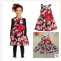 Wholesale Minnie Mouse Tutu Wholesale - 2015 Summer Girls Dress Tutu Princess Baby Mickey Minnie Mouse Dress Dot Baby Casual Paty Dress for 2-6 Years Kid Dress free shipping G00300