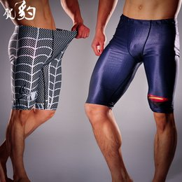 Wholesale Tights Men Thin - Fitness tight pants Superman, Iron Man stretch wicking compression fitness training running shorts pants the thin section